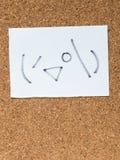 La serie de emoticons japoneses llamó Kaomoji, mirando a escondidas Fotografía de archivo
