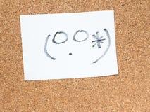 La serie de emoticons japoneses llamó Kaomoji, torpe Fotografía de archivo