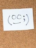 La serie de emoticons japoneses llamó Kaomoji, torpe Foto de archivo libre de regalías