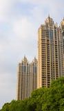 La serie di costruzione della città Fotografie Stock