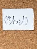 La serie di emoticon giapponesi ha chiamato Kaomoji, confuso Fotografia Stock Libera da Diritti