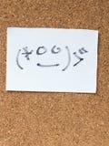 La serie di emoticon giapponesi ha chiamato Kaomoji, confuso Fotografia Stock