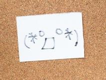 La serie di emoticon giapponesi ha chiamato Kaomoji, sorpreso Immagine Stock Libera da Diritti
