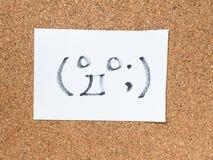 La serie di emoticon giapponesi ha chiamato Kaomoji, sorpreso Fotografia Stock
