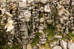 La serpiente empiedra a Flint Stones Imagen de archivo libre de regalías