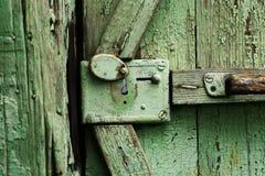 La serratura da un cancello Fotografia Stock