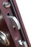 La serratura di porta in una casa Fotografie Stock