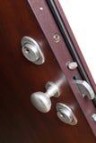 La serratura di porta in una casa Immagine Stock Libera da Diritti