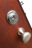 La serratura di porta in una casa Fotografia Stock
