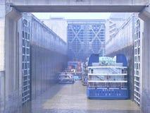 La serratura di Three Gorge Dam, sul fiume Yangtze Immagine Stock Libera da Diritti
