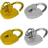 La serratura ed il tasto Fotografie Stock