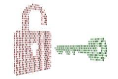 La serratura ed il tasto Immagine Stock