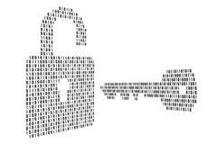 La serratura ed il tasto Fotografia Stock Libera da Diritti
