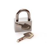 La serratura ed il tasto Immagine Stock Libera da Diritti