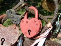 La serratura per gli amanti Fotografia Stock Libera da Diritti