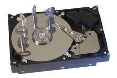 La serratura sicura fissa il disco fisso nel verde Fotografie Stock