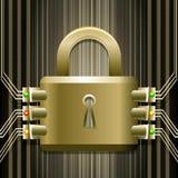 La serrure électronique Image stock