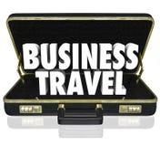 La serviette de voyage d'affaires exprime la réunion importante Images libres de droits