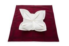La servilleta adornó maravillosamente Foto de archivo libre de regalías
