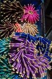 La seta infila il primo piano multicolore del fondo Fotografia Stock Libera da Diritti