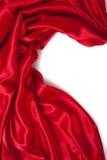 La seta rossa elegante liscia può usare come priorità bassa Immagini Stock Libere da Diritti