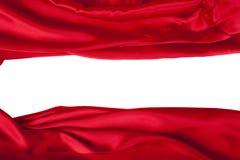 La seta rossa elegante liscia può usare come priorità bassa Immagine Stock