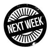La settimana prossima bollo Fotografia Stock