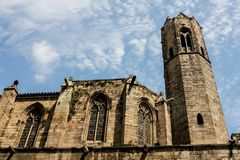 La Seu cathedral in Barcelona Royalty Free Stock Photos