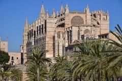 La Seu cathedral in Palma de Majorca,. La Seu basilica in Palma de Majorca,Mallorca,Spain Stock Photography