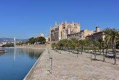 La Seu cathedral in Palma de Majorca,. La Seu basilica in Palma de Majorca,Mallorca,Spain Stock Photos