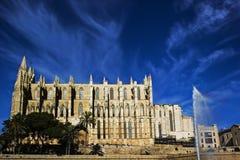 La Seu. The Cathedral La Seu in Palma de Mallorca Royalty Free Stock Images