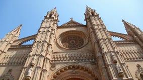 La Seu Cathedral in Palma de Mallorca Majorca in Spain stock video footage