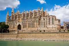 La Seu - Cathedral of Santa Maria of Palma, Palma de Mallorca. Spain Stock Photos