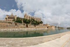 La Seu de cathédrale dans Palma de Mallorca Images libres de droits