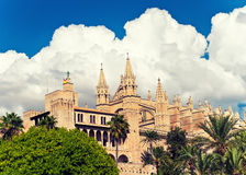 La Seu della cattedrale di Palma de Mallorca fotografie stock