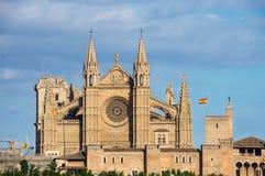 La Seu, domkyrkan av Palma de Mallorca - Spanien royaltyfria foton