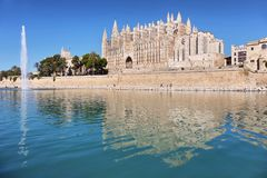 La Seu cathedral of Palma de Mallorca, Spain. La Seu, the gothic medieval cathedral of Palma de Mallorca, Spain Royalty Free Stock Photos