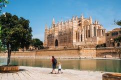 La Seu, la cathédrale médiévale gothique de Palma de Mallorca, Espagne Photos stock