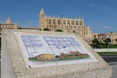 La Seu, Mallorca domkyrka royaltyfria bilder
