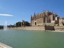 La La Seu in Palma di Maiorca, Ballears della cattedrale fotografie stock libere da diritti