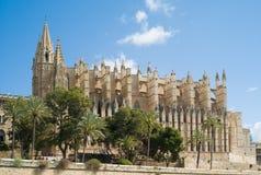 La Seu van de kathedraal in Palma DE Mallorca Stock Afbeelding