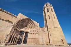 La Seu Vella cathedral in Lleida, Catalonia, Spain. Stock Image