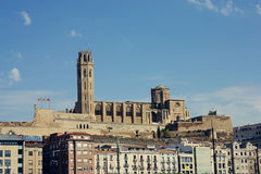 La Seu Vella Cathedral in Lleida Royalty Free Stock Photos