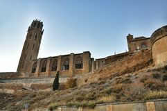 La Seu Vella cathedral of Lleida, Spain Royalty Free Stock Images
