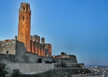 La Seu Vella cathedral of Lleida, Spain Royalty Free Stock Photography