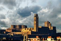 La Seu Vella di Lleida in Spagna immagini stock libere da diritti