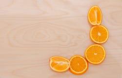 La sezione arancio sul bordo Immagine Stock Libera da Diritti