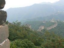 La sezione di Mutianyu della grande muraglia della Cina Immagine Stock Libera da Diritti