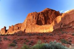 La sezione di Park Avenue incurva il parco nazionale Moab Utah Immagine Stock Libera da Diritti