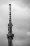 La sezione superiore della torre di comunicazioni di Tokyo Skytree Fotografie Stock